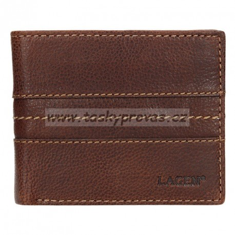 Lagen pánská kožená peněženka 3984 hnědá