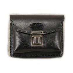 Kožená kapsa na pásek Greisi M3-CCS černá černě prošitá
