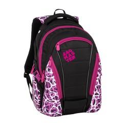 Studentský batoh Bagmaster BAG 9 C PURPLE/WHITE/BLACK