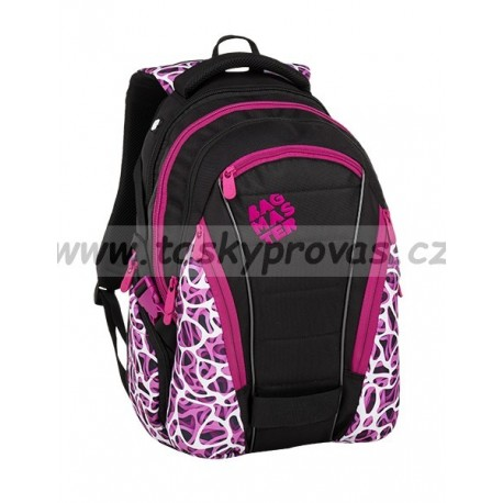Studentský batoh Bagmaster BAG 9 C PURPLE/WHITE/BLACK