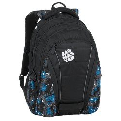 Studentský batoh Bagmaster BAG 9 D BLUE/GREY/BLACK
