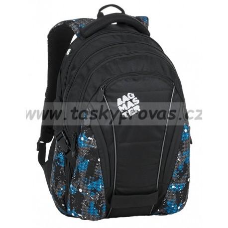 Studentský batoh Bagmaster BAG 9 D BLUE/GREY/BLACK
