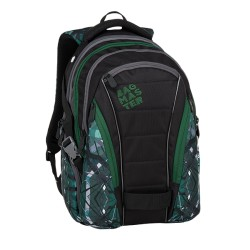Studentský batoh Bagmaster BAG 9 E GREEN/GREY/BLACK