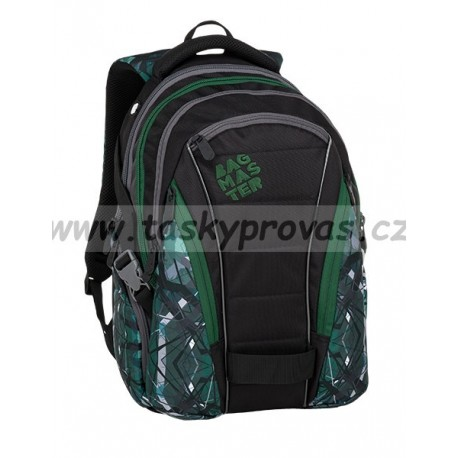 Studentský batoh Bagmaster BAG 9 E GREEN/GREY/BLACK