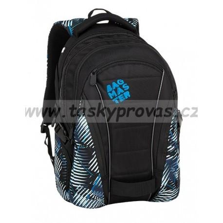 Studentský batoh Bagmaster BAG 9 F GREEN/BLUE/BLACK
