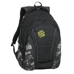 Studentský batoh Bagmaster BAG 9 G GREEN/GREY/BLACK