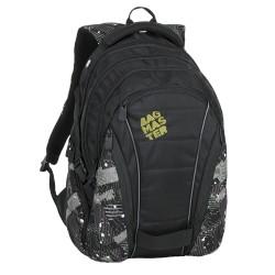 Studentský batoh Bagmaster BAG 9 G GREEN/GREY/BLACK
