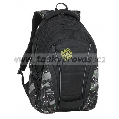 6d9381e7a2 Studentský batoh Bagmaster BAG 9 G GREEN GRAY BLACK