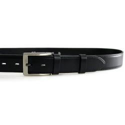 Pánský luxusní kožený společenský opasek Belts 35-020-4 černý