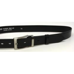 Pánský luxusní kožený společenský opasek Belts 35-020-22 černý