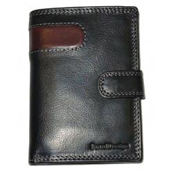 Pánská kožená peněženka SendiDesign B-5704(L) black/brown