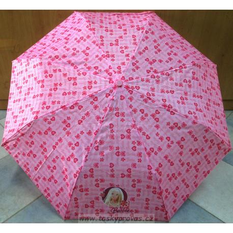Deštník dětský skládací Perletti Barbie 79020 sv. růžová