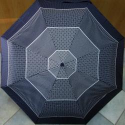 Deštník plně automatický Blue Drop A869DC tmavý/puntíky