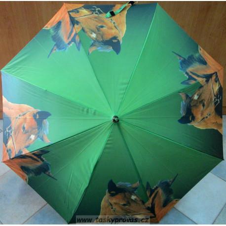 Deštník holový automat Blue Drop A053DL koně