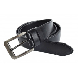 Pánský luxusní kožený společenský opasek Penny Belts 35-020-7 černý