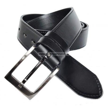 Pánský luxusní kožený společenský opasek Penny Belts 35-020-9 černý