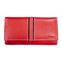 Dámská kožená peněženka Delami 10422 červená/černá
