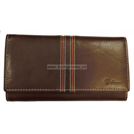 Dámská kožená peněženka Delami 10422 hnědá/sv.hnědá