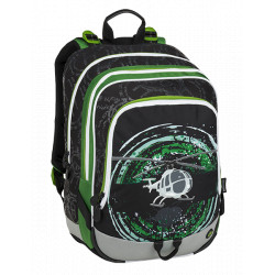 Školní batoh Bagmaster ALFA 9 D BLACK/GREEN/GREY