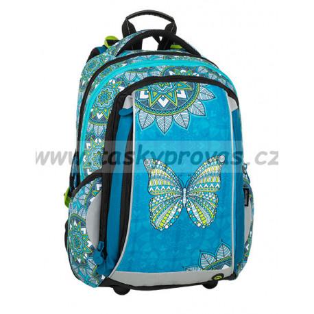 Školní batoh Bagmaster MERCURY 9 B TURQUOISE/WHITE