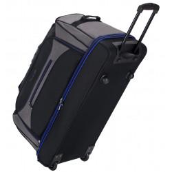 """Cestovní taška na kolečkách SIROCCO T-7554/30"""" - černá/šedá/modrá"""
