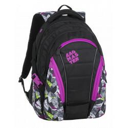 Studentský batoh Bagmaster BAG 9 B PURPLE/GREEN/BLACK