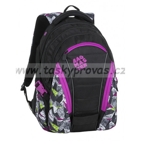 daf3eb731b Studentský batoh Bagmaster BAG 9 B PURPLE GREEN BLACK