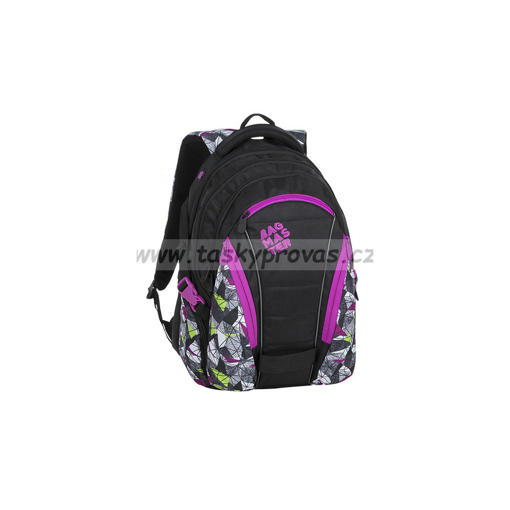 18f3447a99 Studentský batoh Bagmaster BAG 9 B PURPLE GREEN BLACK
