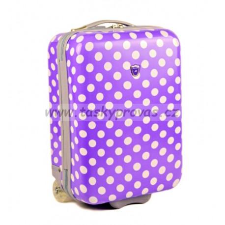Kabinové zavazadlo Madisson 55018/50 fialová/bílá