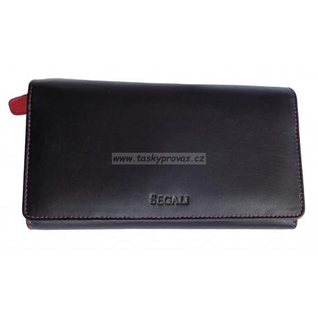 Dámská kožená peněženka Segali SG-09 black/red