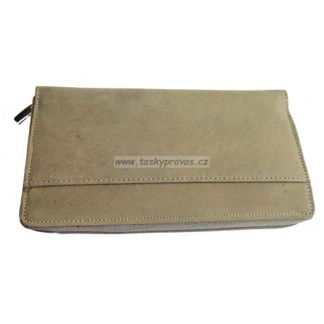 Dámská kožená peněženka Tom 1016/84 šedá