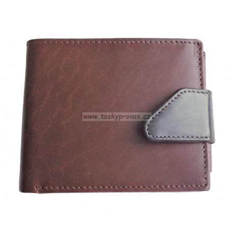 Pánská kožená peněženka Tom 5076/VT hnědá/černá