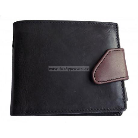 Pánská kožená peněženka Tom 5076/VT černá/hnědá