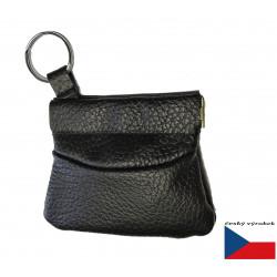 Hajn kožená peněženka-klíčenka( drobněnka Pick-Pack ) 500831.0 černá