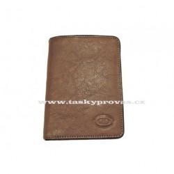 Kožená peněženka DD 042-09 hnědá