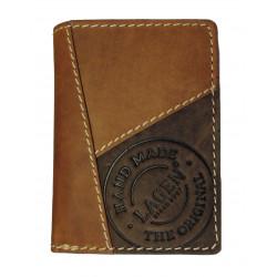 Lagen pánská kožená peněženka 51145 sv.hnědá/tm.hnědá