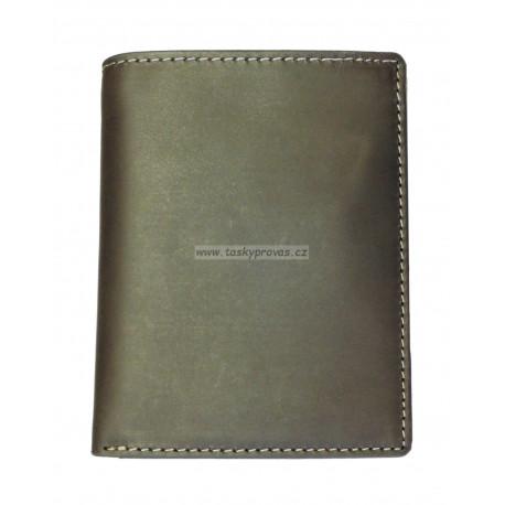 Pánská kožená peněženka Talacko 38043 tm.hnědá
