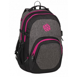 Studentský batoh Bagmaster MATRIX 9 A BLACK/GRAY/PINK