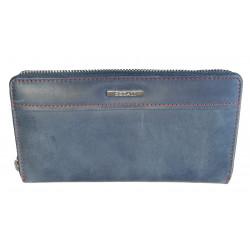 Dámská kožená peněženka Segali SG-7065 jeans blue