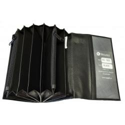 Kožená kasírka Segali SG-7025 black