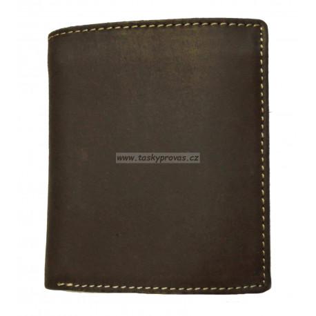 Pánská kožená peněženka Talacko 38045 tm.hnědá
