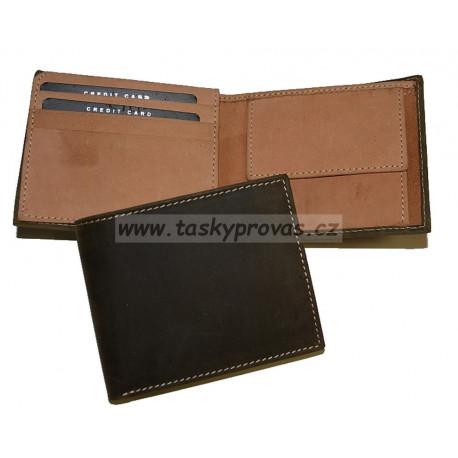 Pánská kožená peněženka Talacko 38041 tm.hnědá