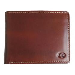 Pánská kožená peněženka DD W 1846-02 hnědá