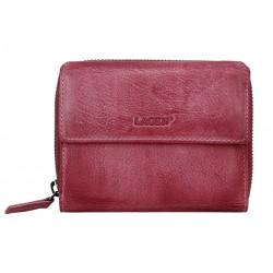 Dámská kožená luxusní peněženka Lagen LG-932/D plum