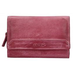 Dámská kožená luxusní peněženka Lagen LG-11/D plum