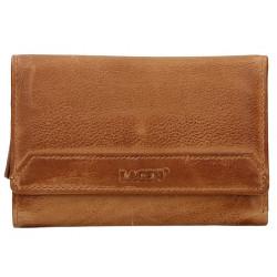Dámská kožená luxusní peněženka Lagen LG-11/D caramel