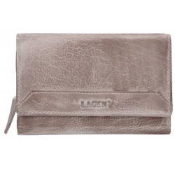 1d8477aa9b Dámská kožená luxusní peněženka Lagen LG-11 D taupe