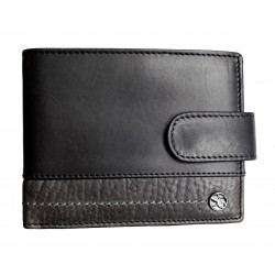 Pánská kožená peněženka Segali 951.320.005L black/grey