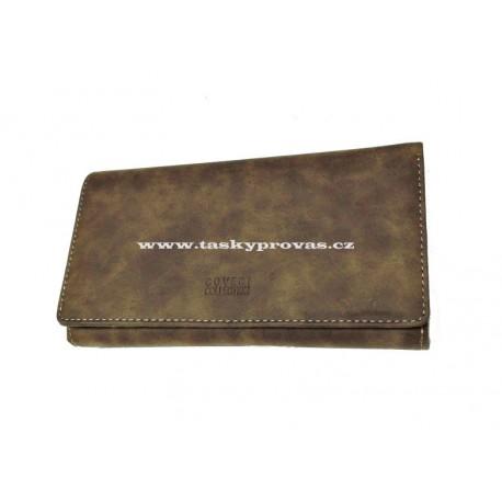 Kožená dámská peněženka Coveri 708895 hnědá