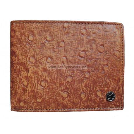 Pánská kožená peněženka Segali 950.114.2007 cognac